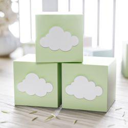 Cubo Decorativo Personalizado Nuvem MDF Verde