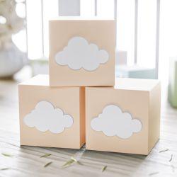 Cubo Decorativo Personalizado Nuvem MDF Salmão