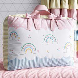 Bolsa de Tecido Patchwork Infantil Arco-Íris 60cm
