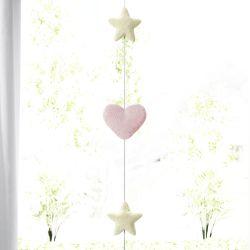 Pêndulo Cortina Estrelas e Corações