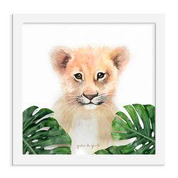 Quadro Leão Safári Baby