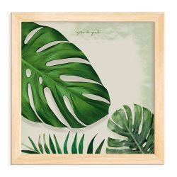 Quadro Folhas Costela-de-Adão Madeira