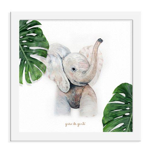 Quadro Elefante Safári Baby