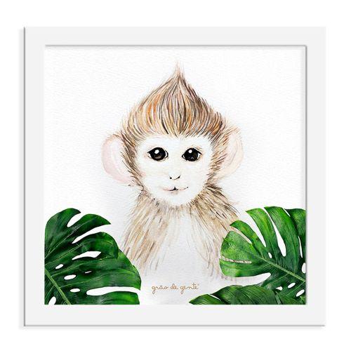 Quadro Macaco Safári Baby