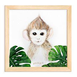 Quadro Macaco Safári Baby Madeira