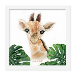 Quadro Girafa Safári Baby