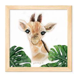 Quadro Girafa Safári Baby Madeira