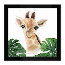 Quadro Girafa Safári Baby Preto