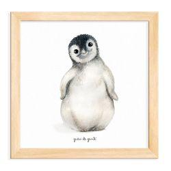 Quadro Pinguim Madeira