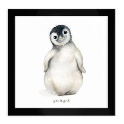 Quadro Pinguim Preto