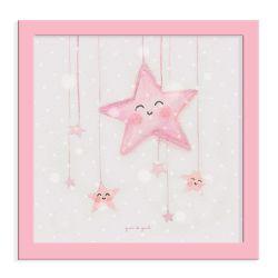 Quadro Céu de Estrelas Cor-de-Rosa