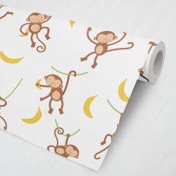 Papel de Parede Macaco Bananinha 3M