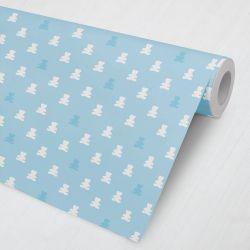 Papel de Parede Ursinho Teddy Azul Tiffany 3M