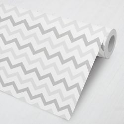 Papel de Parede Chevron Cinza e Branco 3M