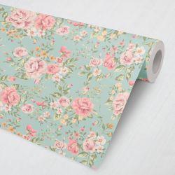 Papel de Parede Rosas e Flores Vintage 3M