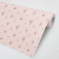 Papel de Parede Floral Petit Rosa 3M