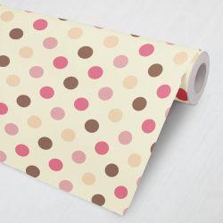 Papel de Parede Poá Rosa, Pink, Vinho e Laranja 3M