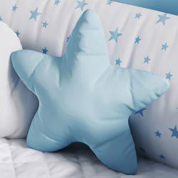 Almofada Estrelinha Azul Claro