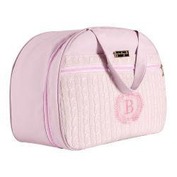 Mala Maternidade Personalizada Tricot Rosa