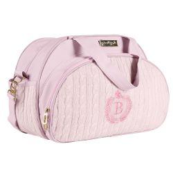 Bolsa Maternidade Personalizada Tricot Rosa