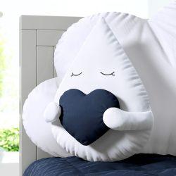 Almofada Gotinha com Coração Azul Marinho 30cm