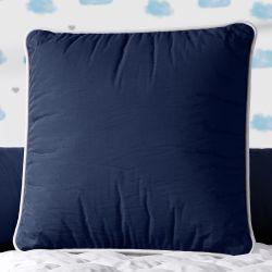 Almofada Quadrada Azul Marinho Cordonê 38cm
