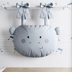 Porta Fraldas Hipopótamo Cinza