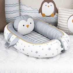 Ninho para Bebê Redutor de Berço Pinguim Estrelinha