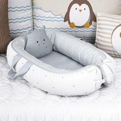 Ninho para Bebê Redutor de Berço Hipopótamo Estrelinha 80cm