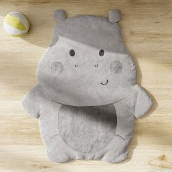 Tapete Hipopótamo Cinza 90cm