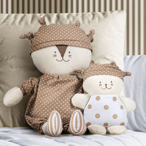 Bonecos de Pano Nózinho Papai e Bebê Leãozinho