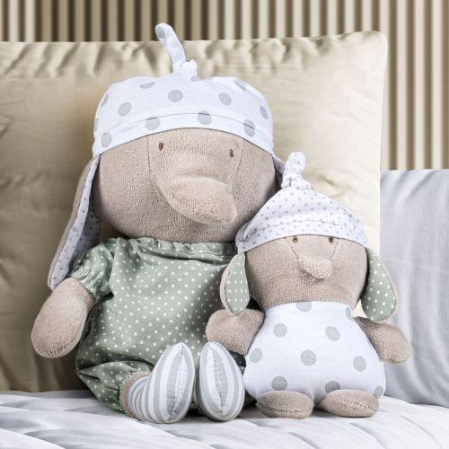 Bonecos de Pano Nózinho Mamãe e Bebê Elefantinho