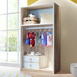 Closet Infantil Montessoriano 2 Gavetas Maria Madeira/Azul