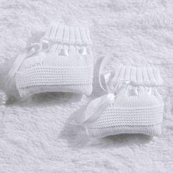 Sapatinho para Bebê Tricot Branco