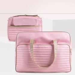 Conjunto de Mala e Bolsa Maternidade Rosa Clássico 02 Peças