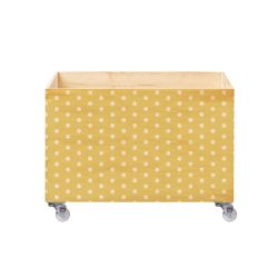 Caixa Organizadora para Brinquedos Poá Amarelo