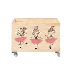 Caixa Organizadora para Brinquedos Pequena Bailarina