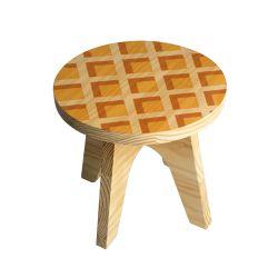 Banquinho Infantil Madeira Waffle