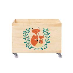 Caixa Organizadora para Brinquedos Raposa e Raposinha
