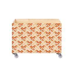 Caixa Organizadora para Brinquedos Raposas e Raminhos