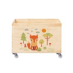 Caixa Organizadora para Brinquedos Raposinha ao Sol