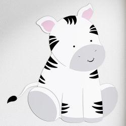 Adesivo de Parede Amiguinha Zebra