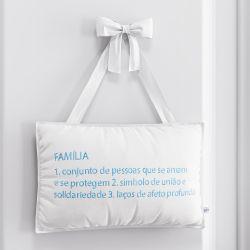 Porta Maternidade Família é Azul