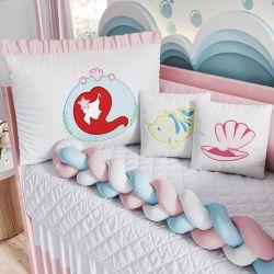 Kit Berço Trança Princesa Ariel