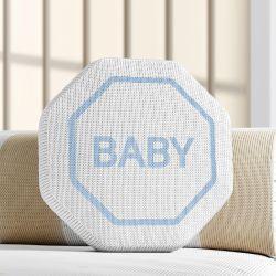 Almofada Tricot Placa de Trânsito Baby 30cm
