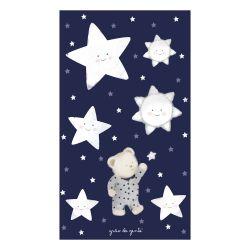 Adesivos de Parede Ursinho nas Estrelas Azul Marinho