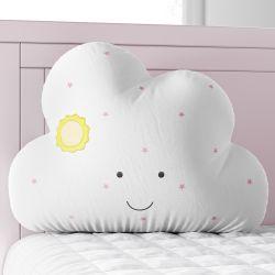 Almofada Amiguinha Nuvem Amanhecer Rosa 30cm