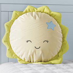Almofada Amiguinho Sol Amarelo e Azul 30cm