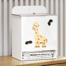 Porta Fraldas MDF Girafinha Safári Baby