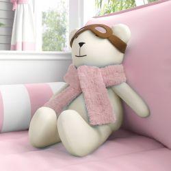 Ursa Aviadora Rosa 50cm
